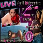 Nikita Bellucci, Samia Christal y Djulianna Sapapayaa en vivo