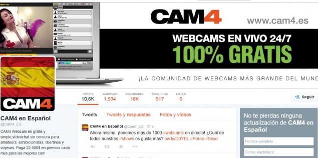 ¡Tu foto en la portada de Twitter de CAM4!