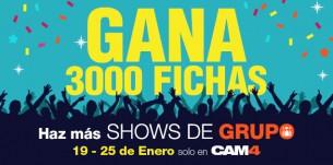 Concurso de Show Privado de Grupo en CAM4