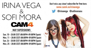 SuperShow Gratis de Irina Vega y Sofi Mora en CAM4