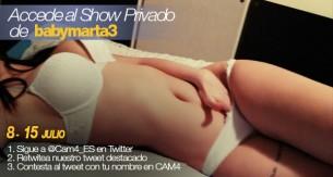 Accede al show privado de Babymarta3
