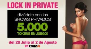Concurso de shows privados Lock in Private, participa y gana 2500 tokens!