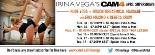 Supershow especial Sexy Yoga Lesson con Irina Vega