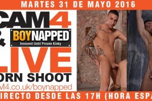 Rodaje porno Gay en directo en CAM4: Boynapped