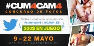 CUM4CAM4: comparte tu masturbación y gana hasta 100$!