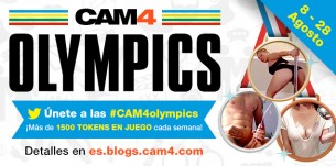 Únete a las CAM4 Sex Olympics: 8 – 28 de Agosto