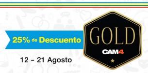 Celebra las #Olimpiadas con un 25% de descuento en CAM4 Gold!