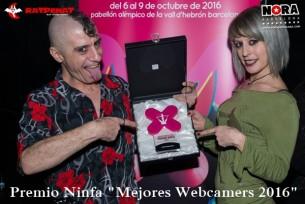 Webcamers de CAM4 ganadores de Premio Ninfa 2016