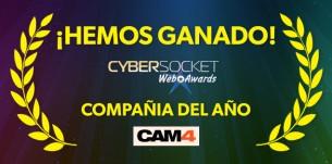 CAM4 Mejor Compañía del Año en los CyberSocket Awards!