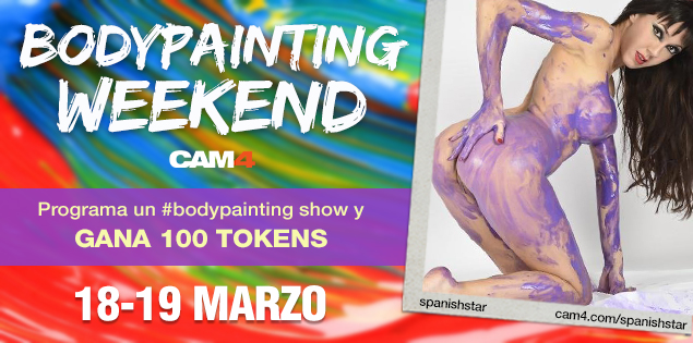 Bodypainting Weekend! Programa tu show #bodypainting y gana 100 tokens!