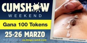 CumShow Weekend! Únete a la maratón de corridas y recibe un chorrazo de tokens!