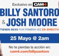 Los actores Porno Gay Billy Santoro y Josh Moore follando en Directo y en exclusiva en CAM4!