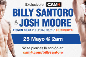 Los actores Porno Gay Billy Santoro y Josh Moore follando en Directo y en exclusiva en CAM4!