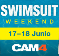 SWIMSUIT WEEKEND en #CAM4! Maratón de shows en bañador!