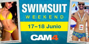 SWIMSUIT WEEKEND en #CAM4! Maratón de shows en bañador!