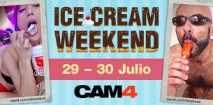 Verano porno en las webcams de #CAM4 – Ice Cream Weekend!