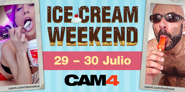 Verano porno en las webcams de #CAM4 – Ice Cream Weekend!