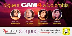 Sigue a CAM4 y a nuestras chicas en LALExpo 2017 en Colombia!