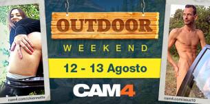 OUTDOOR WEEKEND en CAM4! Maratón de sexo al aire libre este fin de semana!