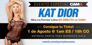 Evento Especial! Show con la pornstar latina Kat Dior hoy en CAM4!