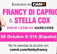 Show lésbico de Stella Cox y Francesca Di Caprio en CAM4!