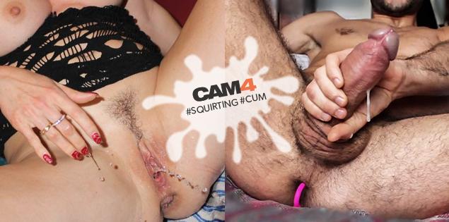 CAM4 se llena de chorros! Mira las mejores fotos de squirt y corridas!