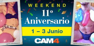 Una sex party de 3 días para celebrar el 11 cumpleaños de CAM4!