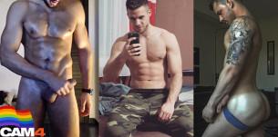 Chulazos de CAM4: especial Orgullo! Músculos, tatuajes… y pollones!